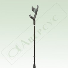 Костыли металлические с опорой на предплечье, регулируемые по высоте, с устройством против скольжения
